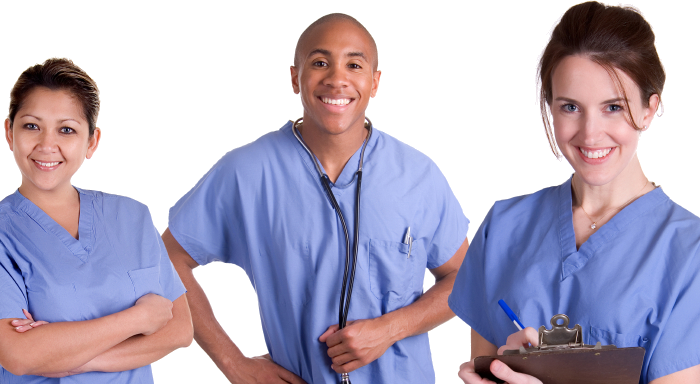 Three Nurses Smiling